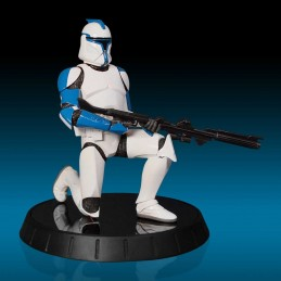 STAR WARS - BLUE CLONE TROOPER LIEUTENANT STATUE FIGURE LIMITED EDITION