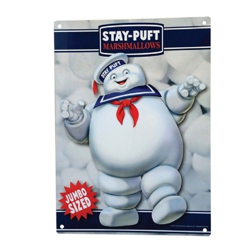 GHOSTBUSTER - STAY PUFT METAL SIGN TARGA METALLO 20X27 FACTORY ENTERTAINMENT