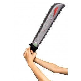 FACTORY ENTERTAINMENT ZOMBIE MACHETE REPLICA 30CM GOMMAPIUMA CON SUONI