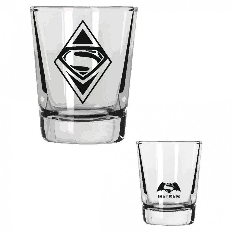 BATMAN V SUPERMAN MINI GLASSES SET - 4 BICCHIERI SHORTINI SD TOYS