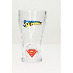 SUPERMAN SPINNING LOGO SODA GLASS - BICCHIERE CON LOGO ROTANTE SD TOYS