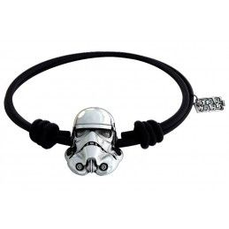 SD TOYS STAR WARS STORMTROOPER SILVER BRACELET - BRACCIALETTO GOMMA PLACCATO ARGENTO