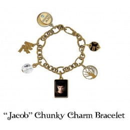 TWILIGHT NEW MOON JACOB CHUNKY CHARM BRACELET - BRACCIALETTO