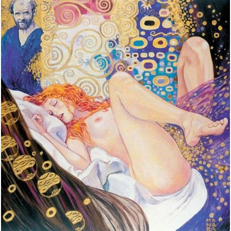 MILO MANARA ART ON CANVAS - KLIMT GIFT BOX STAMPA SU TELA 23.5X23.5