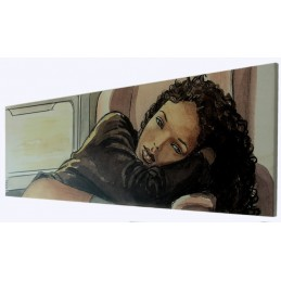 MILO MANARA ART ON CANVAS - TRAIN GIFT BOX STAMPA SU TELA 60X20 COMIXANDO