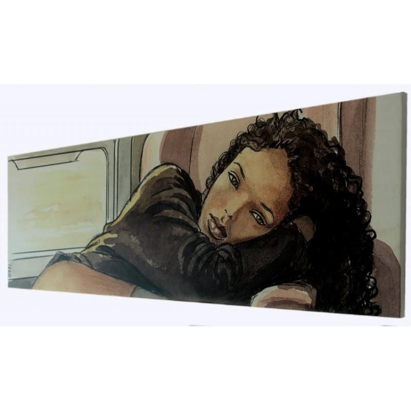 MILO MANARA ART ON CANVAS - TRAIN GIFT BOX STAMPA SU TELA 60X20 COMIXANDO