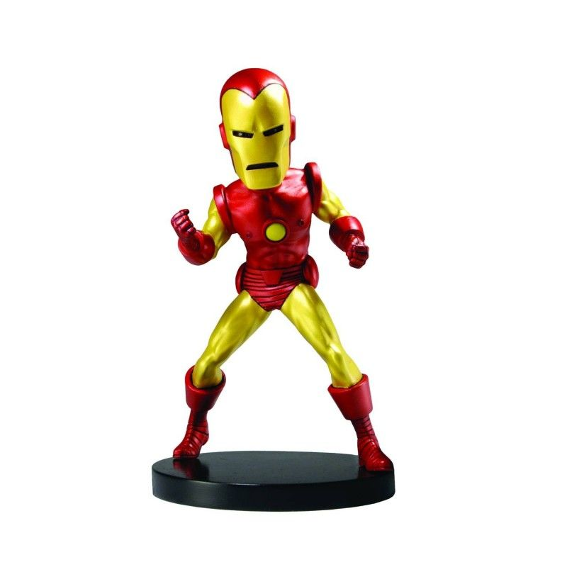 MARVEL CLASSIC AVENGERS IRON MAN IRONMAN BOBBLE HEAD KNOCKER ACTION FIGURE NECA