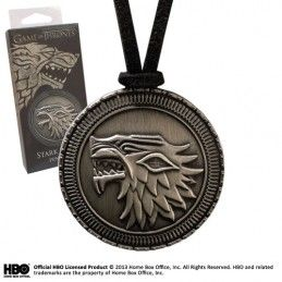 GAME OF THRONES STARK SHIELD PENDANT REPLICA CIONDOLO NOBLE COLLECTIONS