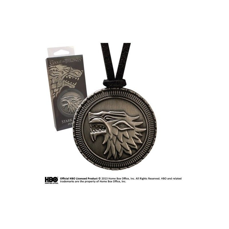 NOBLE COLLECTIONS GAME OF THRONES STARK SHIELD PENDANT REPLICA CIONDOLO