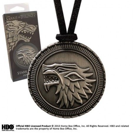GAME OF THRONES STARK SHIELD PENDANT REPLICA CIONDOLO