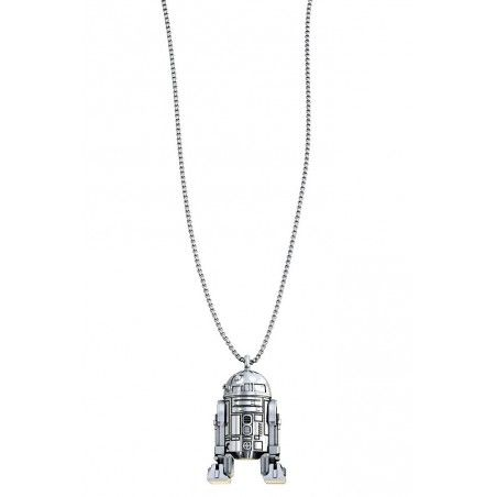 STAR WARS R2-D2 SILVER NECKLACE COLLANA