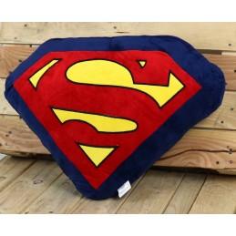 SUPERMAN LOGO SHAPED CUSHION PLUSH CUSCINO