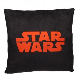 STAR WARS LOGO BLACK AND RED CUSHION PILLOW CUSCINO