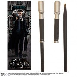 NOBLE COLLECTIONS FANTASTIC BEAST - PERCIVAL GRAVES WAND PEN AND BOOKMARK PENNA E SEGNALIBRO