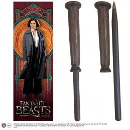 NOBLE COLLECTIONS FANTASTIC BEAST - PORPENTINA WAND PEN AND BOOKMARK PENNA E SEGNALIBRO