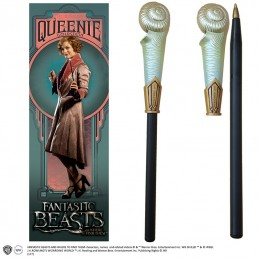 NOBLE COLLECTIONS FANTASTIC BEAST - QUEENIE WAND PEN AND BOOKMARK PENNA E SEGNALIBRO