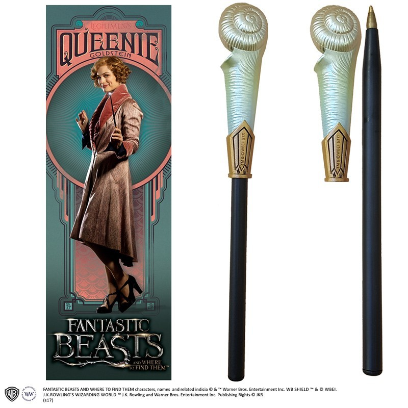FANTASTIC BEAST - QUEENIE WAND PEN AND BOOKMARK PENNA E SEGNALIBRO NOBLE COLLECTIONS