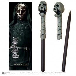 HARRY POTTER - DEATH EATER WAND PEN AND BOOKMARK PENNA E SEGNALIBRO NOBLE COLLECTIONS