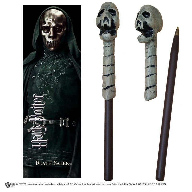 HARRY POTTER - DEATH EATER WAND PEN AND BOOKMARK PENNA E SEGNALIBRO