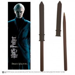 NOBLE COLLECTIONS HARRY POTTER - DRACO MALFOY WAND PEN AND BOOKMARK PENNA E SEGNALIBRO