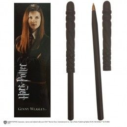 NOBLE COLLECTIONS HARRY POTTER - GINNY WEASLEY WAND PEN AND BOOKMARK PENNA E SEGNALIBRO