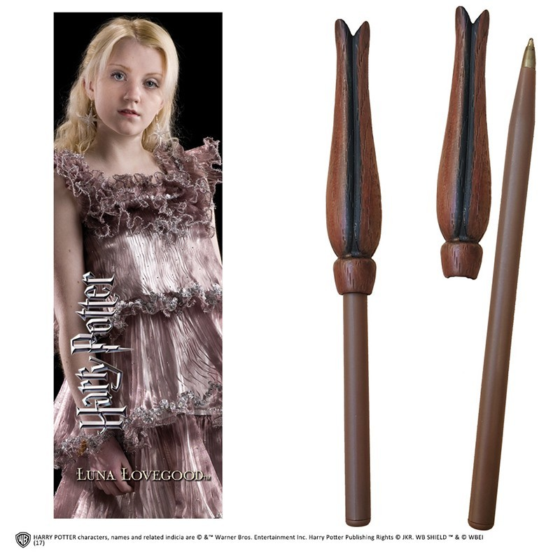 HARRY POTTER - LUNA LOVEGOOD WAND PEN AND BOOKMARK PENNA E SEGNALIBRO NOBLE COLLECTIONS