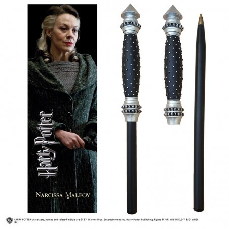 HARRY POTTER - NARCISSA MALFOY WAND PEN AND BOOKMARK PENNA E SEGNALIBRO