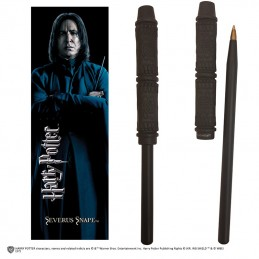 NOBLE COLLECTIONS HARRY POTTER - SEVERUS SNAPE WAND PEN AND BOOKMARK PENNA E SEGNALIBRO