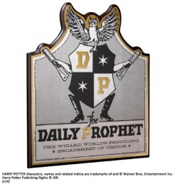 NOBLE COLLECTIONS HARRY POTTER - THE DAILY PROPHET PLAQUE INSEGNA IN LEGNO 35X30CM