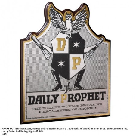 HARRY POTTER - THE DAILY PROPHET PLAQUE INSEGNA IN LEGNO 35X30CM