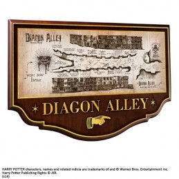 NOBLE COLLECTIONS HARRY POTTER - DIAGON ALLEY PLAQUE INSEGNA IN LEGNO 27X42CM