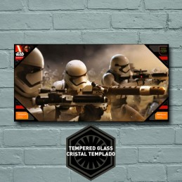 STAR WARS GLASS POSTER - STORMTROOPERS BATTLE 25 X 50 CM