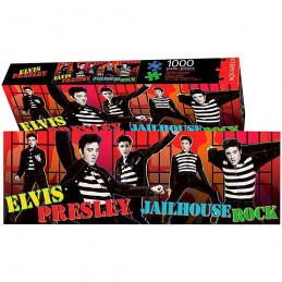 ELVIS PRESLEY JAILHOUSE ROCK 1000 PIECES PEZZI JIGSAW PUZZLE 30X91 CM