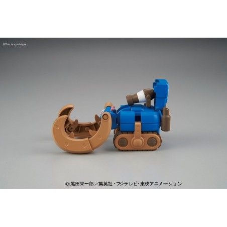 ONE PIECE CHOPPER ROBO SUPER 3 HORN DOZER MODEL KIT ACTION FIGURE