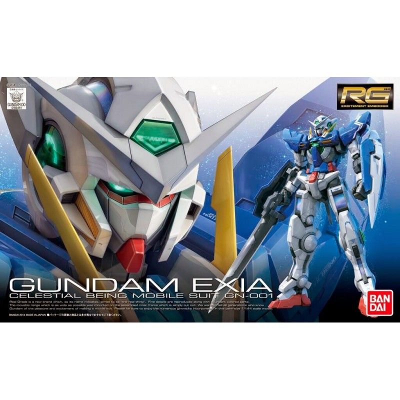BANDAI REAL GRADE RG GUNDAM EXIA 1/144 MODEL KIT FIGURE