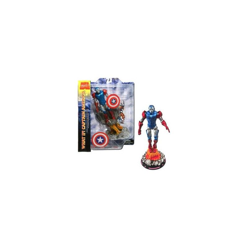 MARVEL SELECT WHAT IF IRON MAN IRONMAN CAPTAIN AMERICA ACTION FIGURE DIAMOND SELECT