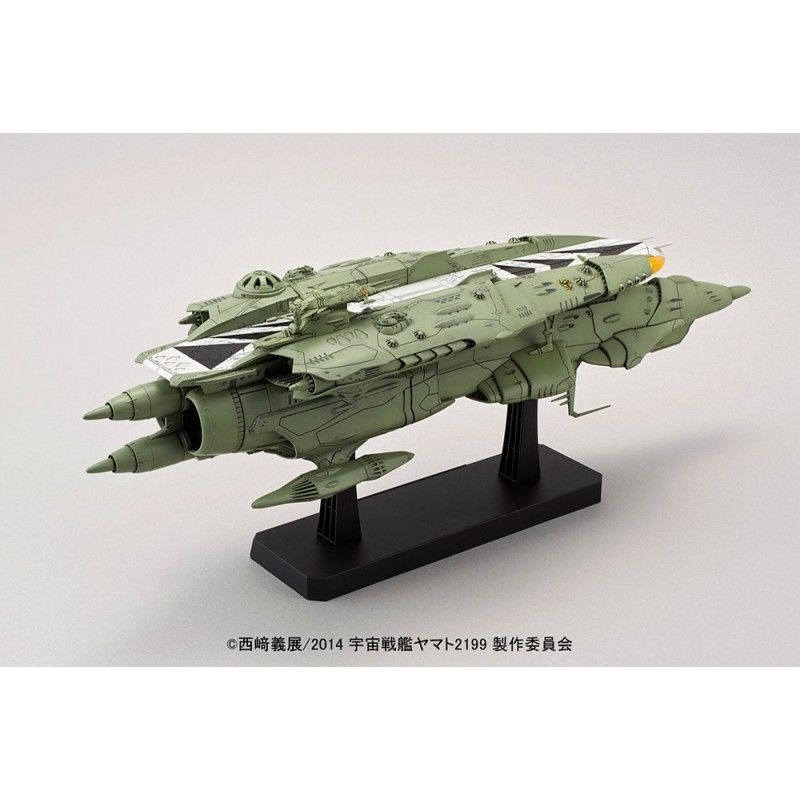 BANDAI YAMATO 2199 MIDDLE CARRIER KISKA 1/1000 MODEL KIT ACTION FIGURE
