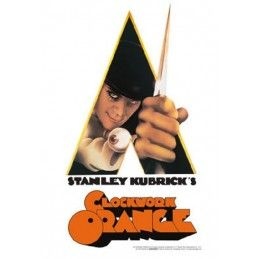 CLOCKWORK ORANGE ARANCIA MECCANICA METAL TIN SIGN TARGA METALLO 20X29