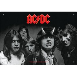 AC/DC HIGHWAY TO HELL METAL TIN SIGN TARGA METALLO 20X29 AQUARIUS