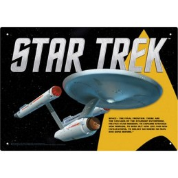 STAR TREK ENTERPRISE METAL TIN SIGN TARGA METALLO 20X29