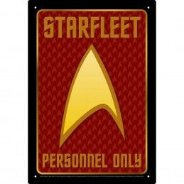 STAR TREK STARFLEET METAL TIN SIGN TARGA METALLO 20X29