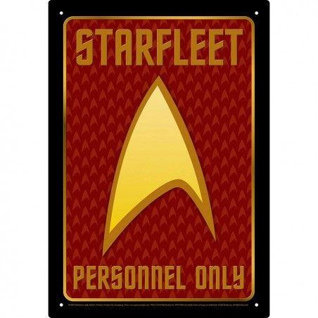 STAR TREK STARFLEET METAL TIN SIGN TARGA METALLO 20X29