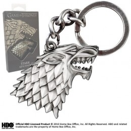 NOBLE COLLECTIONS GAME OF THRONES STARK KEYRING PORTACHIAVI IN METALLO
