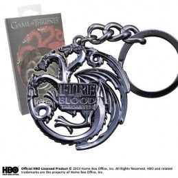 NOBLE COLLECTIONS GAME OF THRONES TARGARYEN KEYRING PORTACHIAVI IN METALLO