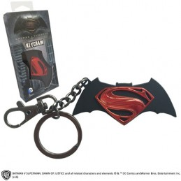 NOBLE COLLECTIONS BATMAN V SUPERMAN LOGO METAL KEYCHAIN PORTACHIAVI IN METALLO