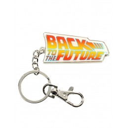 BACK TO THE FUTURE LOGO METAL KEYCHAIN PORTACHIAVI