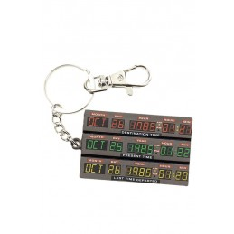 BACK TO THE FUTURE TIME CONTROL METAL KEYCHAIN PORTACHIAVI