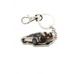 BACK TO THE FUTURE DELOREAN METAL KEYCHAIN PORTACHIAVI