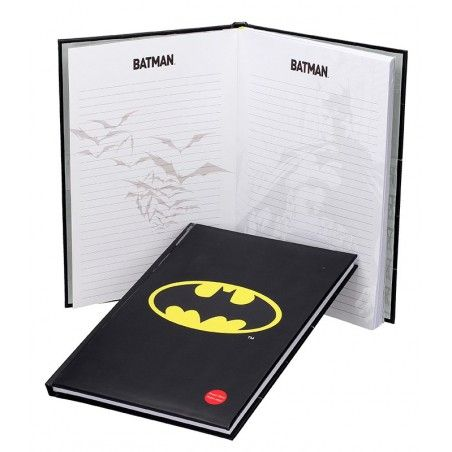 BATMAN BIG NOTEBOOK WITH LIGHT - TACCUINO LUMINOSO 19X29CM