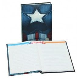 SD TOYS CAPITAN AMERICA CIVIL WAR LIGHT UP NOTEBOOK - TACCUINO LUMINOSO 15X24CM